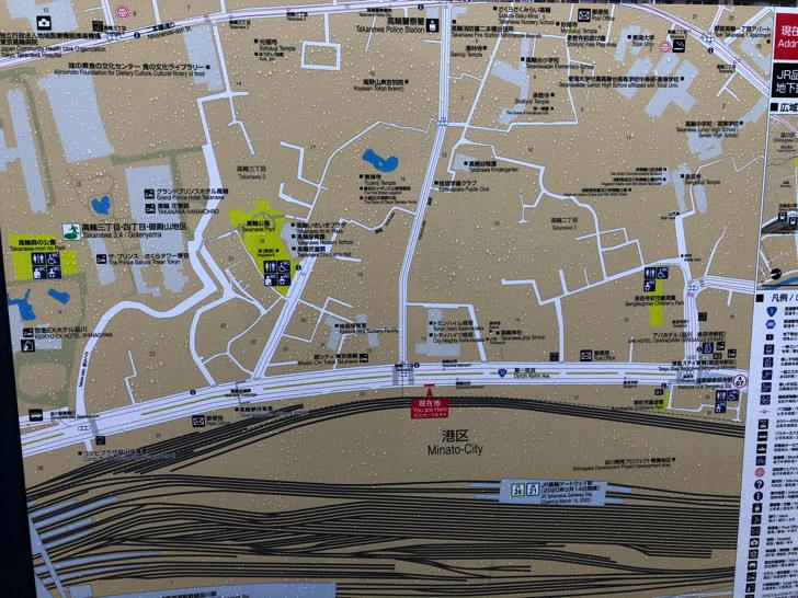 泉岳寺駅前の周辺地図